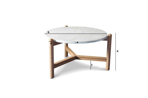 Productafmetingen Västra marmeren salontafel