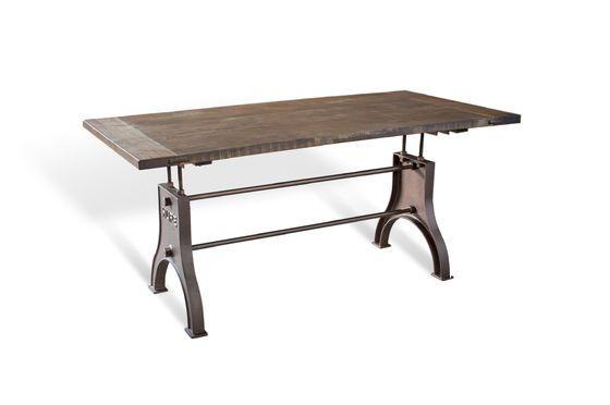 Verstelbare industriële tafel Silver Lake Productfoto