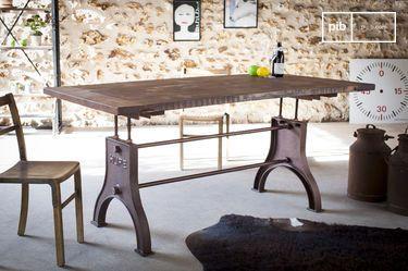 Verstelbare industriële tafel Silver Lake