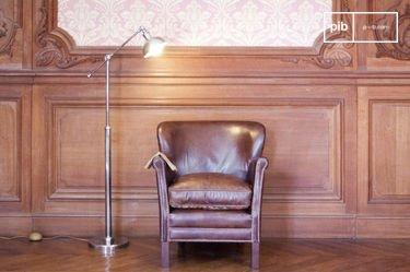 Verstelbare metalen leeslamp