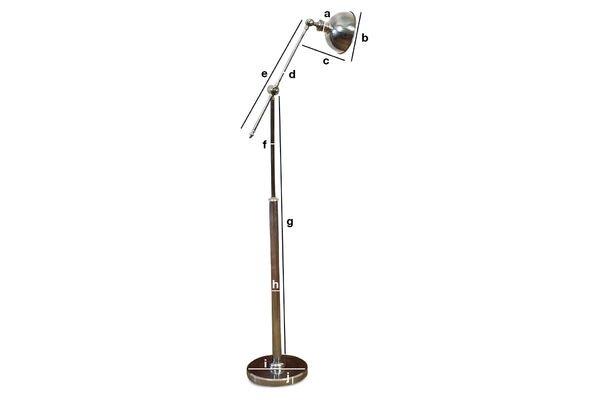 Productafmetingen Verstelbare metalen leeslamp