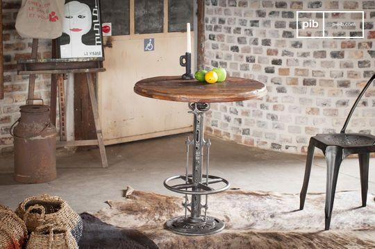 Verstelbare teakhouten bistrotafel Salvage