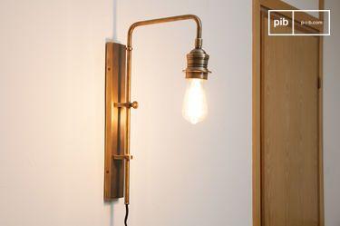Verstelbare wandlamp Lerwick in messing