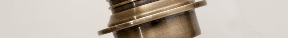 Benadrukte materialen Verstelbare wandlamp Lerwick in messing