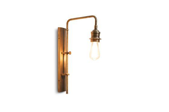 Verstelbare wandlamp Lerwick in messing Productfoto
