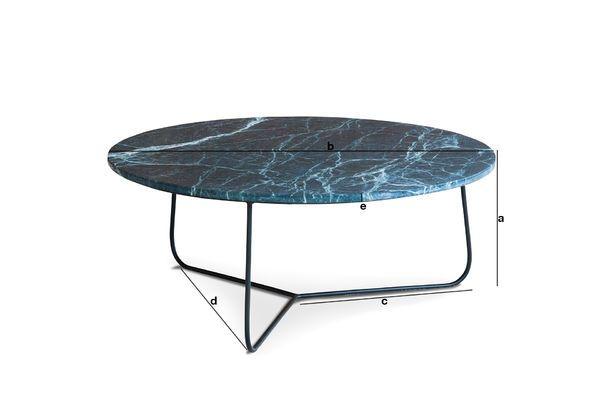 Productafmetingen Verticü marmeren salontafel