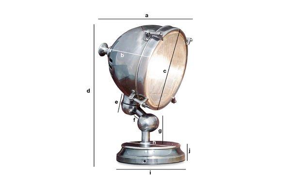 Productafmetingen Verzilverde lamp