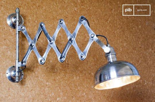 Verzilverde schaarlamp