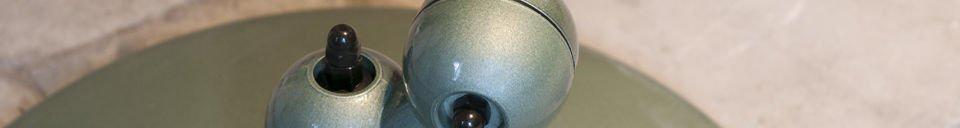 Benadrukte materialen Vespa groen Jieldé loft lamp