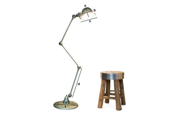 Productafmetingen Vespa groen Jieldé loft lamp