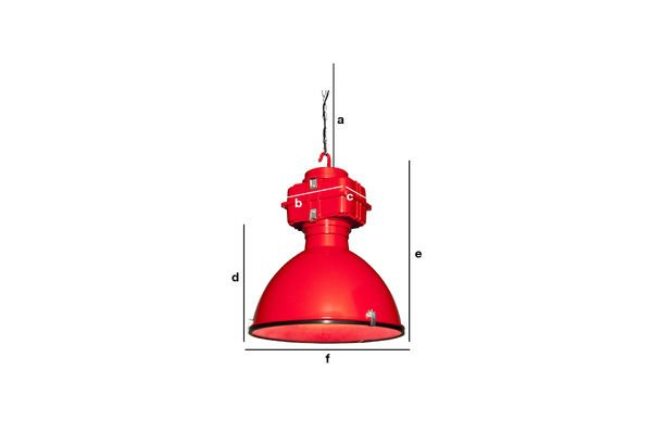 Productafmetingen Vic Industry hanglamp
