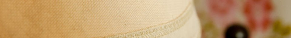 Benadrukte materialen Victoria beige lampenkap 25 cm