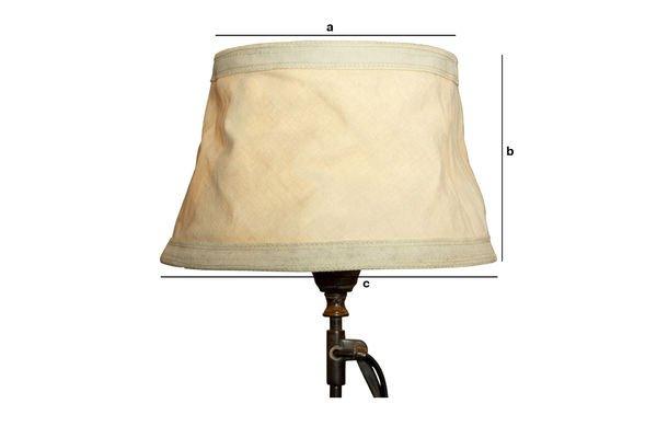 Productafmetingen Victoria beige lampenkap 25 cm