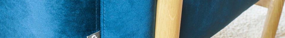 Benadrukte materialen Viela Velvet Armstoel