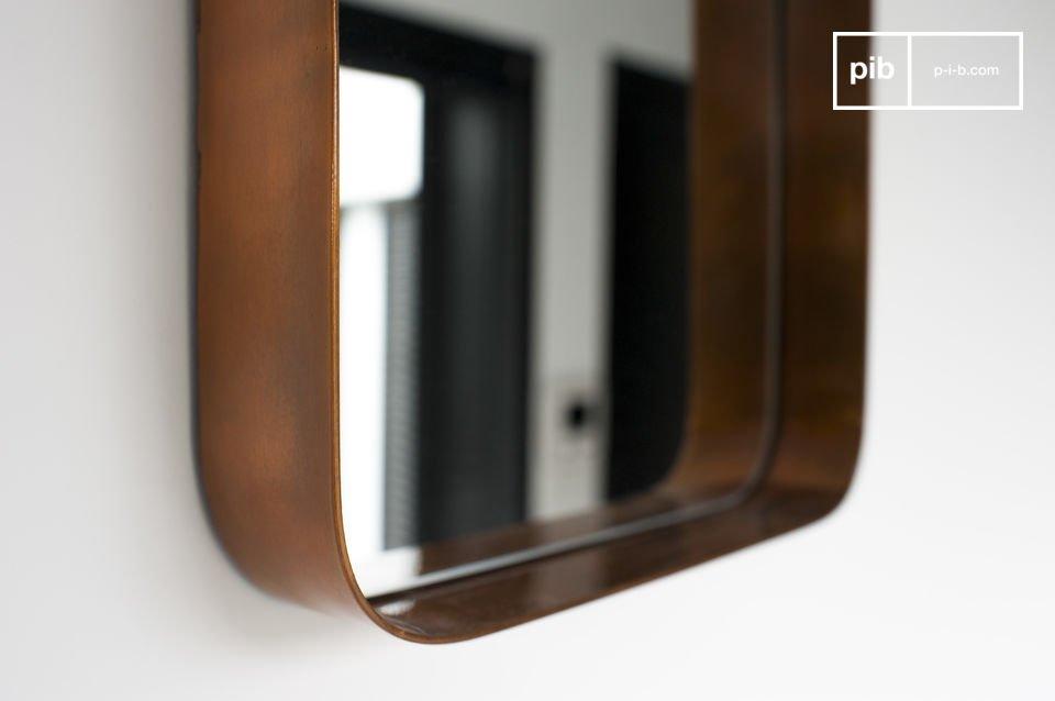 Vierkante spiegel met Scandinavische stijl