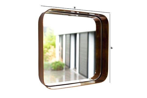 Productafmetingen Vierkante Lena spiegel
