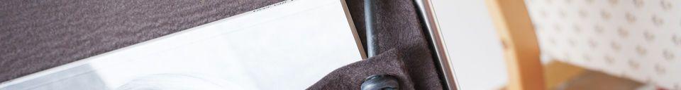 Benadrukte materialen Vilt tijdschriftenhouder Strandis