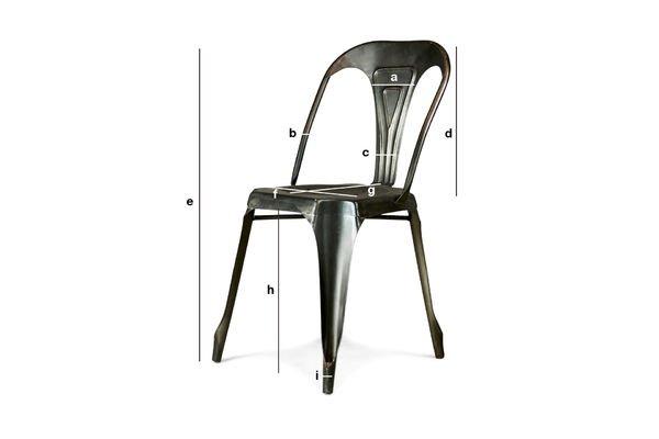 Productafmetingen Vintage Multipl's stoel