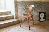 Vintage Multipl's stoel in koper