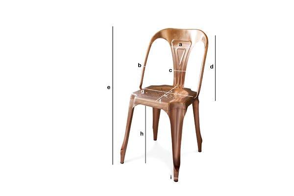 Productafmetingen Vintage Multipl's stoel in koper