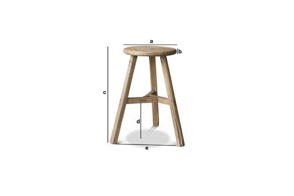 Productafmetingen Vizzavona ronde kruk