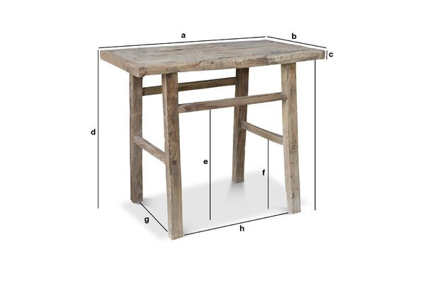 Productafmetingen Vizzavona sidetable
