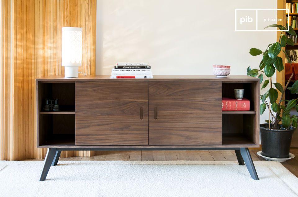 Elegantie van edele houtsoorten en een groot opslagvolume
