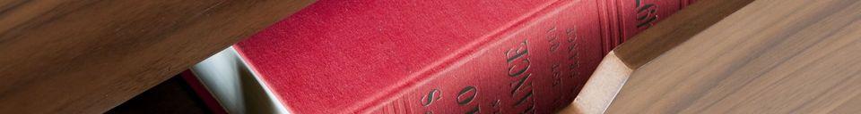 Benadrukte materialen Walnoten dressoir Hinda