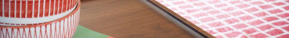 Benadrukte materialen Walnoten salontafel Hemët
