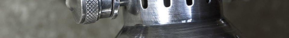 Benadrukte materialen Wandlamp in bistrostijl