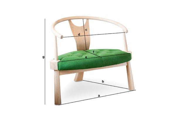 Productafmetingen Wellinfield driepoots fauteuil