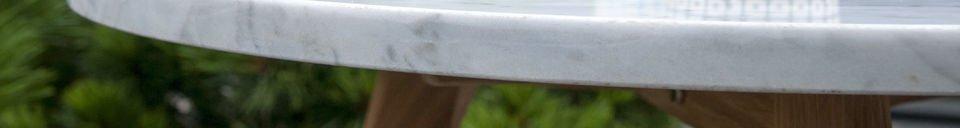 Benadrukte materialen White Stone salontafel