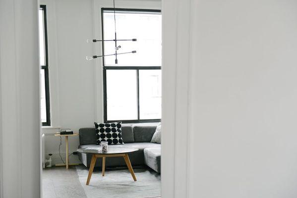 Wit modern interieur