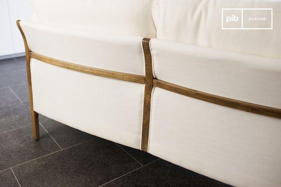 De elegantie van een witte bank met een vintage touch