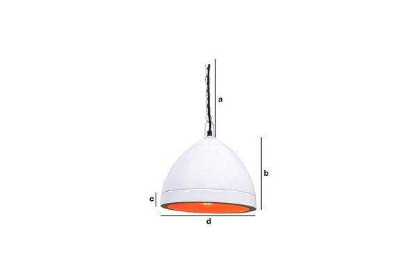 Productafmetingen Witte Këpsta hanglamp