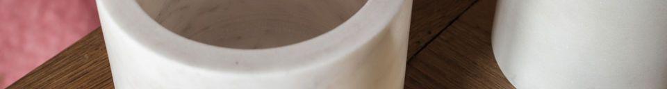 Benadrukte materialen Witte marmeren pot Wäg