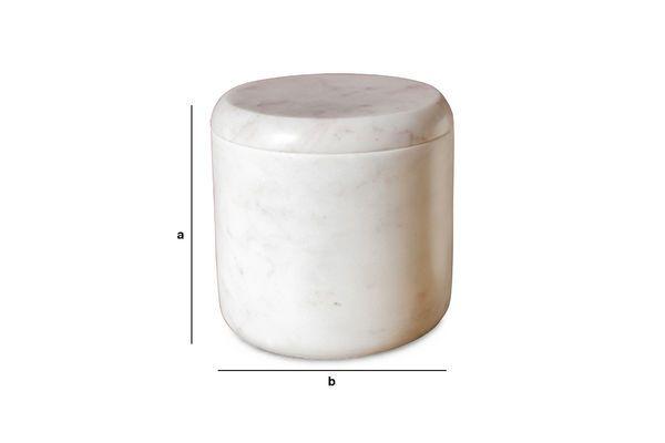 Productafmetingen Witte marmeren pot Wäg