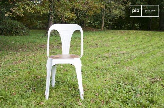 Witte Multipl's stoel - hout