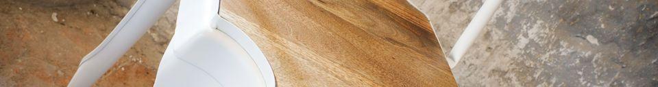 Benadrukte materialen Witte Multipl's stoel - hout