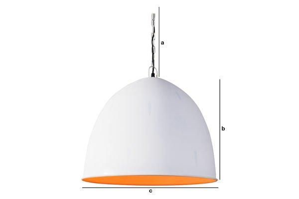 Productafmetingen Witte Nölia hanglamp