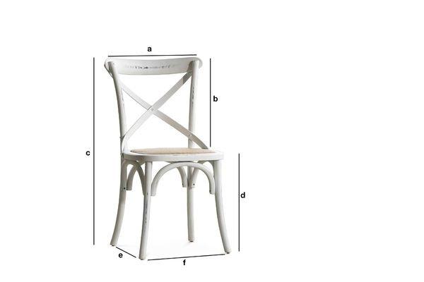 Productafmetingen Witte pampelune stoel