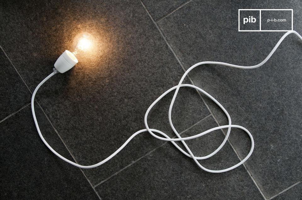 Witte porseleinen NUD-lamp