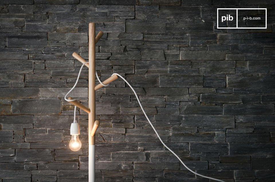 De trendy witte NUD-lamp voorziet elke kamer van helder lichter
