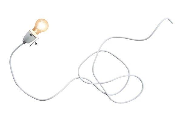 Productafmetingen Witte porseleinen NUD-lamp