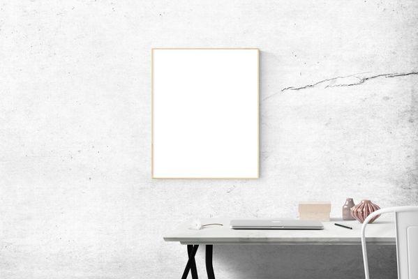 Witte ruimte witte kader