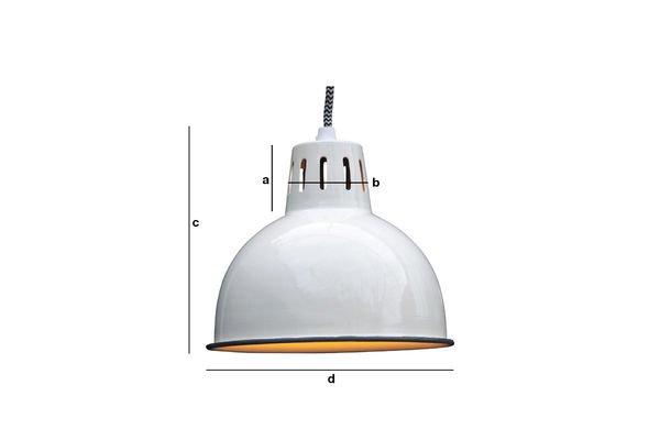 Productafmetingen Witte Snöl hanglamp