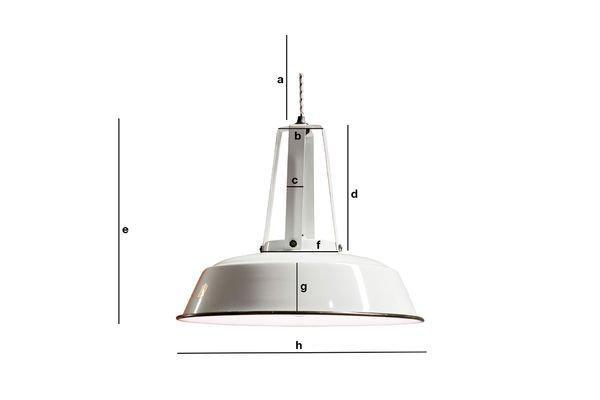 Productafmetingen Witte Walter hanglamp