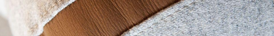 Benadrukte materialen Wollen Britta Sofa