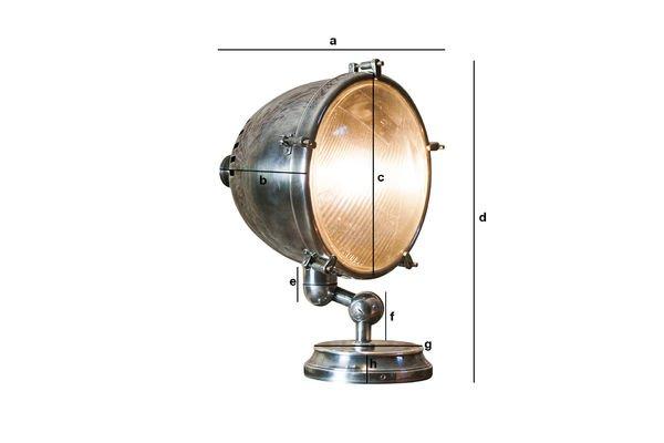 Productafmetingen XXL Verzilverde lamp