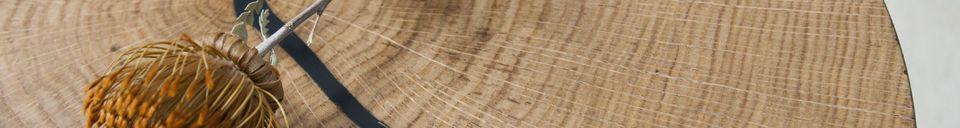 Benadrukte materialen Xylème bijzettafel
